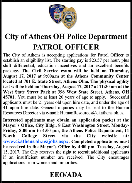 Athens OH Police Ad