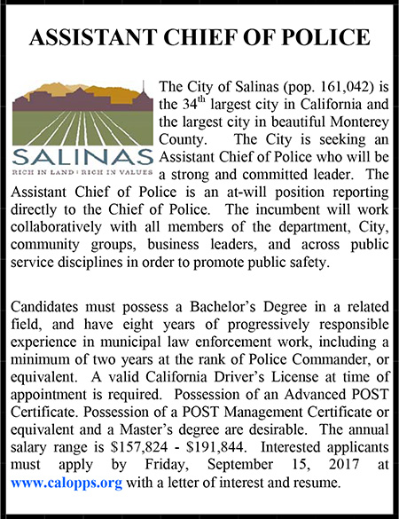 City of Salinas Assistant Chief of Police Ad
