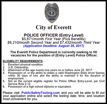 Everett Police Entry Level Ad