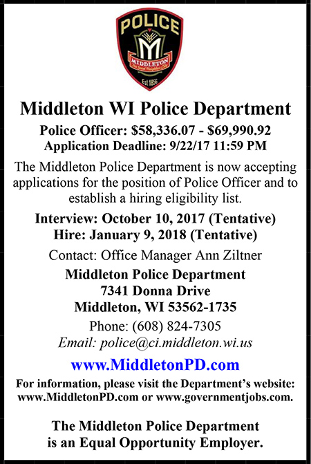 Middletown WI Police Ad