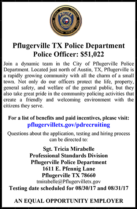 Pflugerville Police Draft Ad