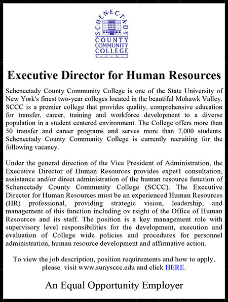 Schenectady County Community College Executive Director for HR