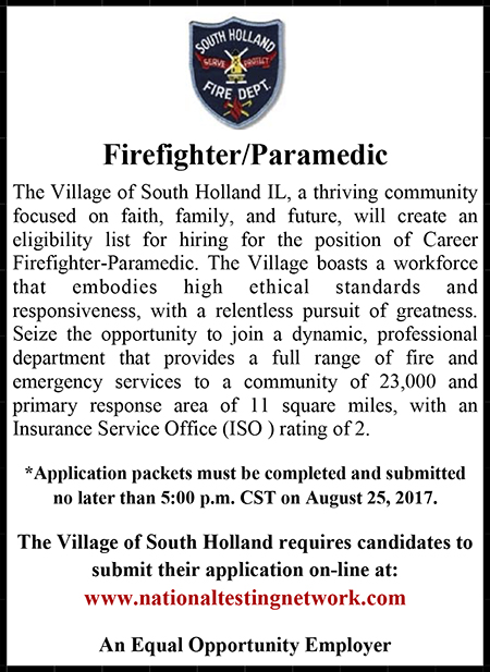 South Holland IL Firefighter Ad