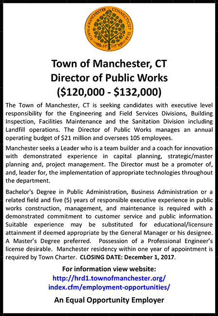 Town of Manchester Ad