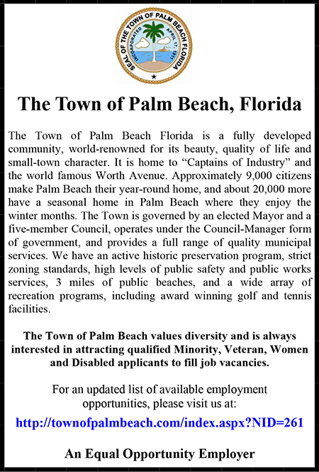 Town of Palm Beach EEO Ad